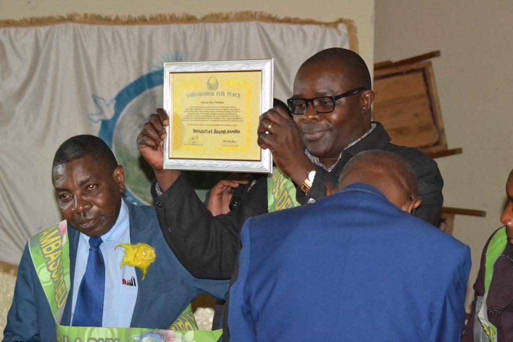 Deo Buuma,Acteur de la société civile nominé Ambassadeur pour la Paix