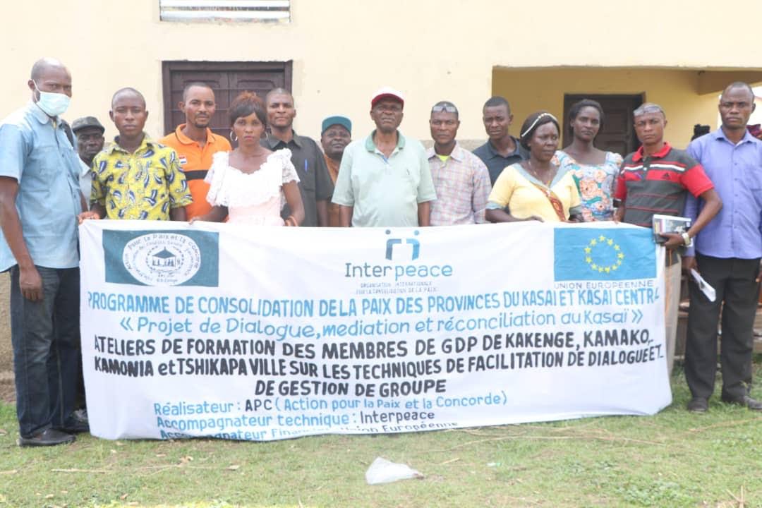 Kasaï : Des membres du GDP formés sur les techniques de facilitation de dialogue et de gestion des groupes par l'ONG APC