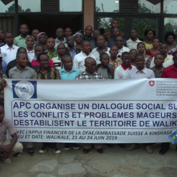Dialogue Sociale sur les conflits et problèmes majeurs qui déstabilisent le territoire de Walikale